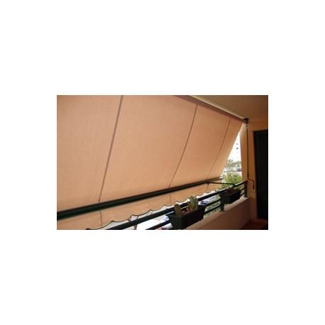 1020 toldo de balc n lona a resinada 2442 esp cafe 153 for Toldos de balcon